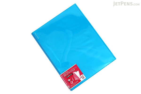 Kokuyo Novita Alpha Pocket File - A4 - 12 Pockets - Light Blue - KOKUYO RA-NF12LB