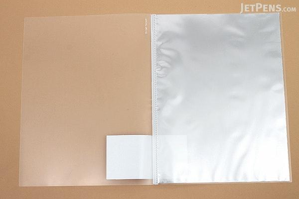 Kokuyo Novita Alpha Pocket File - A4 - 12 Pockets - Clear - KOKUYO RA-NF12T