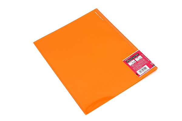 Kokuyo Novita Alpha Pocket File - A4 - 12 Pockets - Orange - KOKUYO RA-NF12YR