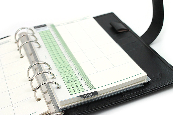 Raymay Davinci System Binder - Leather - Bible/Personal Size - Black - RAYMAY DB3005B