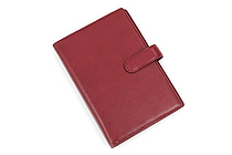 Raymay Davinci System Binder - Leather - Bible/Personal Size - Wine - RAYMAY DB505Z