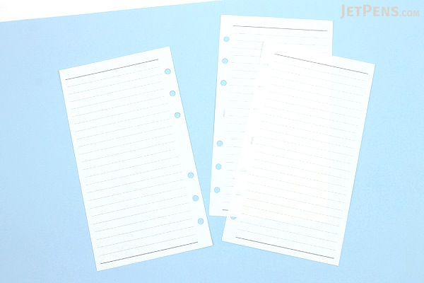 Raymay Davinci Refill Pages - Bible/Personal Size - 6.5 mm Ruled - 100 Sheets - RAYMAY DR337L