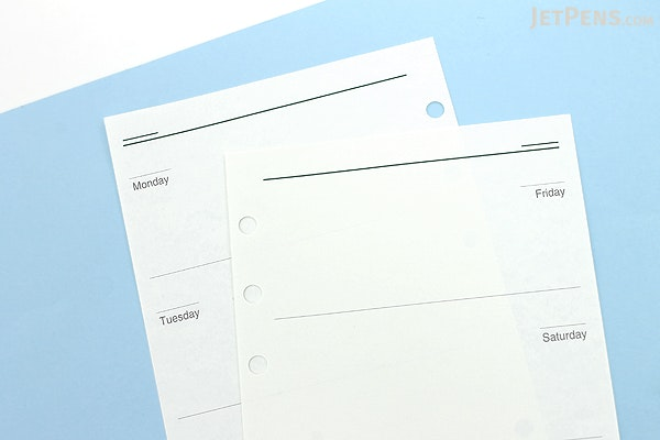 Raymay Davinci Refill Pages - Bible/Personal Size - Free Weekly Schedule A - 30 Sheets - RAYMAY DR271