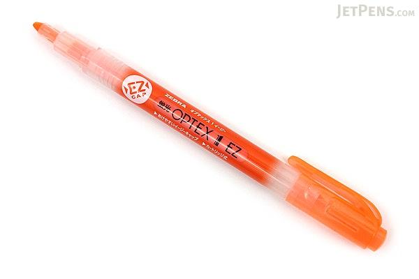 Zebra Optex 1 EZ Highlighter - Orange - ZEBRA WKS11-OR
