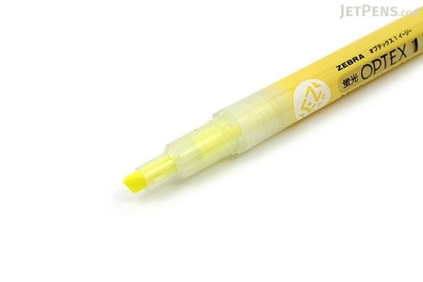 Zebra Optex 1 EZ Highlighter - Yellow - ZEBRA WKS11-Y