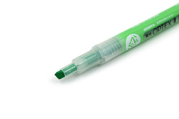 Zebra Optex 1 EZ Highlighter - Green - ZEBRA WKS11-G