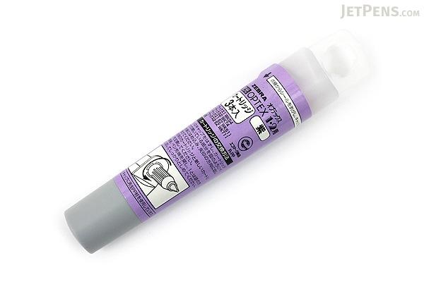 Zebra Optex Highlighter Ink Cartridge - Purple - Pack of 3 - ZEBRA RWK8-PU