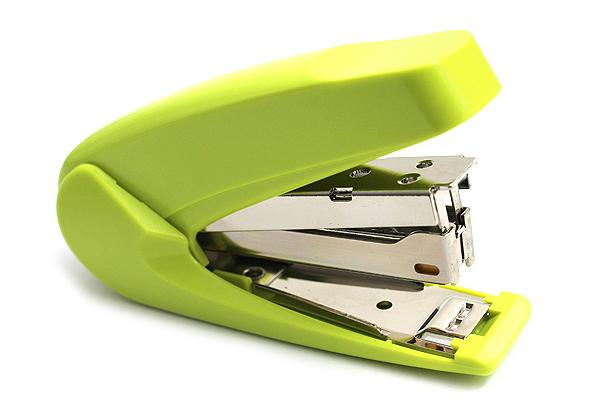 Kokuyo Racchikisu Stapler - Yellow Green - KOKUYO SL-M72YG