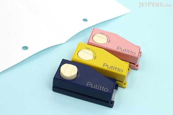 Carl Putitto Portable 2-Hole Punch - Blue - CARL PP-01-B