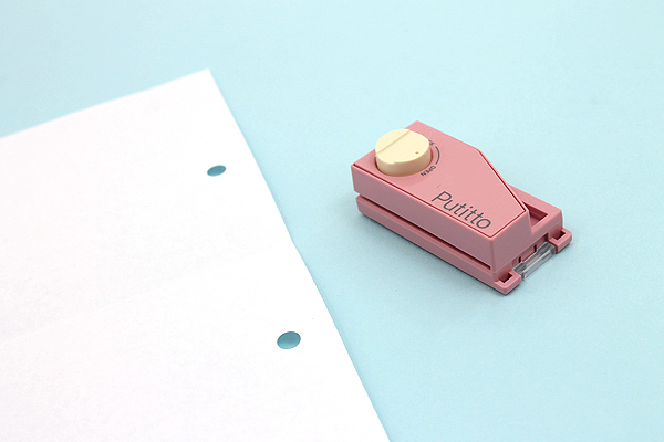 Carl Putitto Portable 2-Hole Punch - Pink - CARL PP-01-P