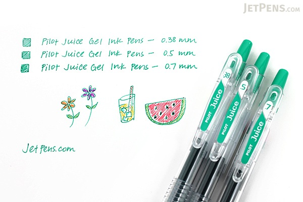 Pilot Juice Gel Pen - 0.38 mm - Black - PILOT LJU-10UF-B