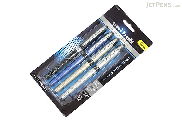 Uni-ball Vision Elite Designer Series Rollerball Pen - 0.8 mm - Pack of 4 - UNI-BALL 1858842