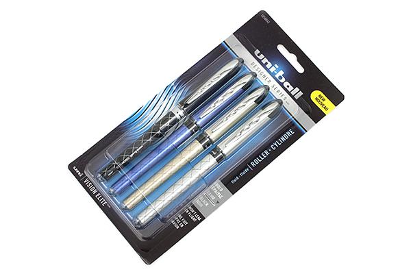 Uni-ball Vision Elite Designer Series Rollerball Pen - 0.8 mm - Pack of 4 - SANFORD 1858842