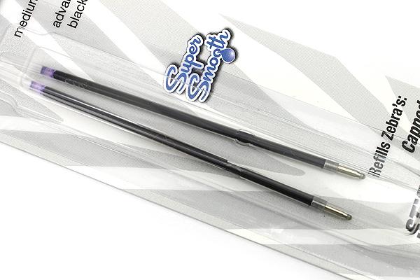Zebra LV-Refill Ballpoint Pen Refill - 1.0 mm - Black - Pack of 2 - ZEBRA 86912