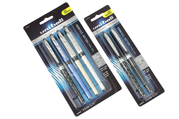 Uni-ball Vision Elite Designer Series Rollerball Pen - 0.8 mm - Pack of 2 - UNI-BALL 1858550