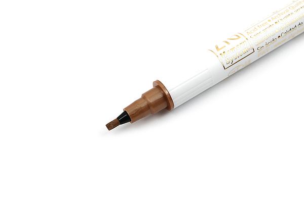 Kuretake Zig Calligraphy Metallic Double-Sided Marker Pen - 2 mm / 3.5 mm - Copper - KURETAKE MS-8400-123