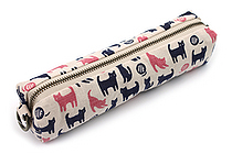 Miyamoto Collection Retro Komon Pen Case - Tama and Kuro Cats - MIYAMOTO 07302
