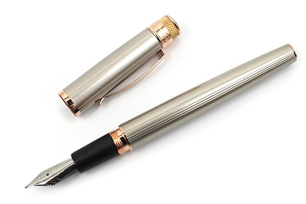 Retro 51 Tornado Fountain Pen - Fine Nib - White Nickel EXT - RETRO 51 VRF-1312-F