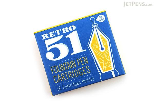 Retro 51 Fountain Pen Ink Cartridge - Pack of 6 - Blue - RETRO 51 REF27