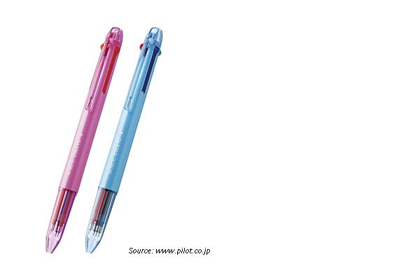 Pilot Hi-Tec-C Coleto N 3 Color Multi Pen Body Component - Pink - PILOT LHKCN15C-P