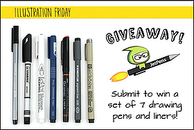 Pen Perks: JetPens + Illustration Friday Art Contest Giveaway!