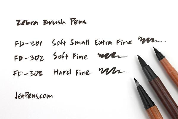 Zebra Brush Pen FD-302 - Soft - Fine - ZEBRA FD-302