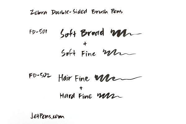 Zebra Double-Sided Brush Pen FD-502 - Hair / Hard - Fine - ZEBRA FD-502