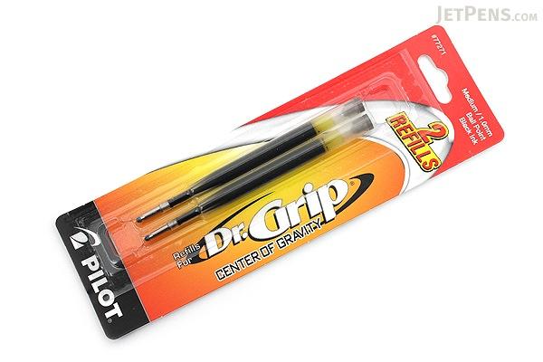 Pilot Dr. Grip Center of Gravity Ballpoint Pen Refill - 1.0 mm Medium Point - Black - Pack of 2 - PILOT BCGR2BLKM