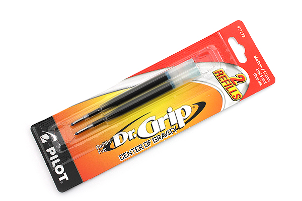 Pilot Dr. Grip Center of Gravity Ballpoint Pen Refill - 1.0 mm Medium Point - Blue - Pack of 2 - PILOT BCGR2BLUM