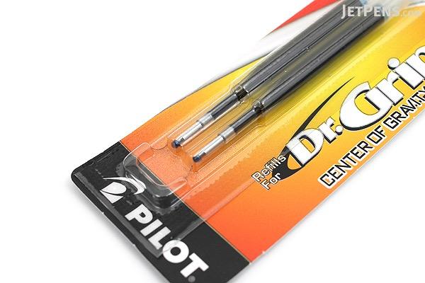 Pilot Dr. Grip Center of Gravity Ballpoint Pen Refill - 1.0 mm Medium Point - Blue - Pack of 2 - PILOT BCGR2BLUM