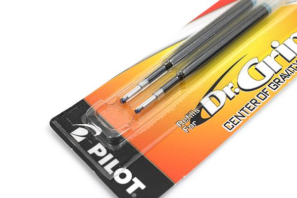 Pilot Dr. Grip Center of Gravity Ballpoint Pen Refill - 1.0 mm Medium Point - Blue - Pack of 2 - PILOT 77272