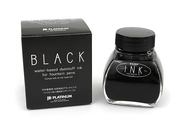 Platinum Fountain Pen Ink - 60 ml Bottle with Ink Reservoir - Black - PLATINUM INK-1200 #1