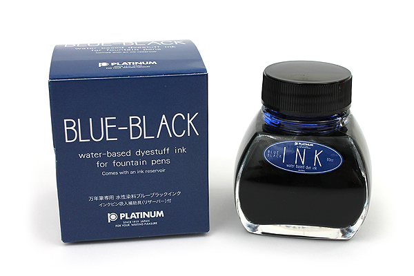 Platinum Fountain Pen Ink - 60 ml Bottle with Ink Reservoir - Blue Black - PLATINUM INK-1200 #3