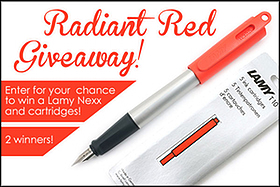 Pen Perks: Radiant Red Giveaway