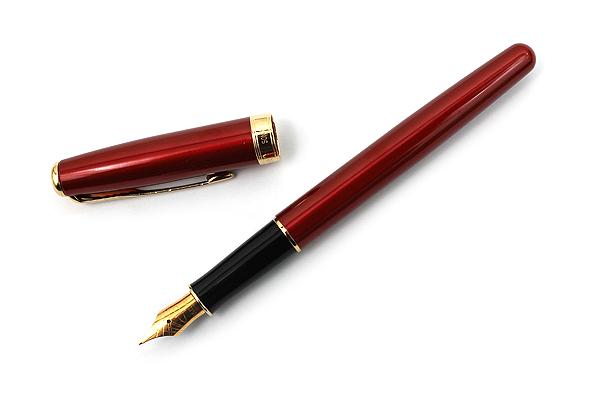 Parker Sonnet Fountain Pen - Red Lacquer Body with Gold Trim - Medium Nib - SANFORD 1859460
