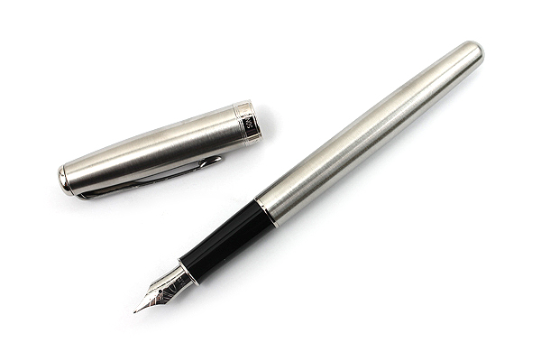 Parker Sonnet Fountain Pen - Stainless Steel Body with Chrome Trim - Medium Nib - SANFORD S0809220