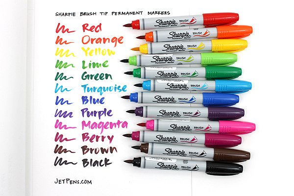 Sharpie Brush Tip Permanent Marker - Berry - SHARPIE 1863414