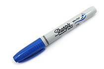 Sharpie Brush Tip Permanent Marker - Blue - SHARPIE 1863390