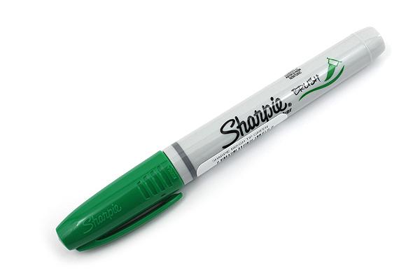 Sharpie Brush Tip Permanent Marker - Green - SHARPIE 1863389