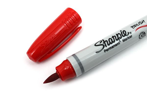 Sharpie Brush Tip Permanent Marker - Red - SHARPIE 1863411
