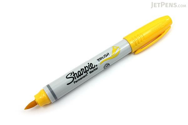 Sharpie Brush Tip Permanent Marker - Yellow - SHARPIE 1863412