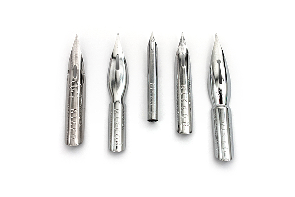 Nikko Comic Pen Nib - Spoon Model - Chrome Plated - Pack of 3 - NIKKO N357C-3