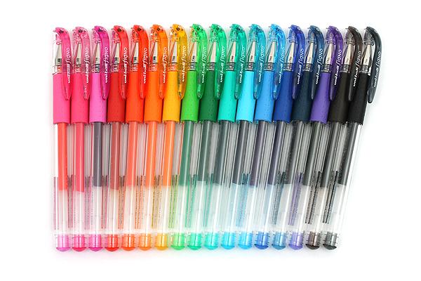 Uni-ball Signo UM-151 Gel Pen - 0.5 mm - 17 Color Bundle - JETPENS UNI UM151-5 BUNDLE 1