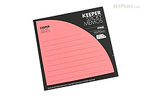 Bonomemo Keeper Sticky Memos - Pink - BONOMEMO KEEPER P
