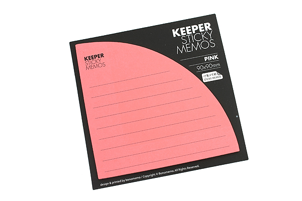 Bonomemo Keeper Sticky Memos - Pink - BONOMEMO KEEPER P