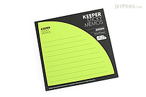 Bonomemo Keeper Sticky Memos - Green - BONOMEMO KEEPER G