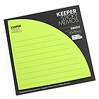 Bonomemo Keeper Sticky Memos - Green