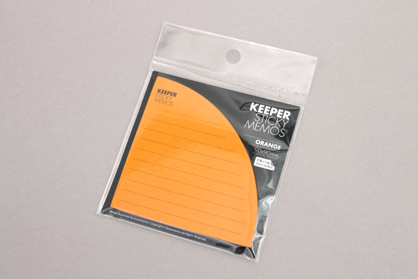 Bonomemo Keeper Sticky Memos - Orange - BONOMEMO KEEPER O