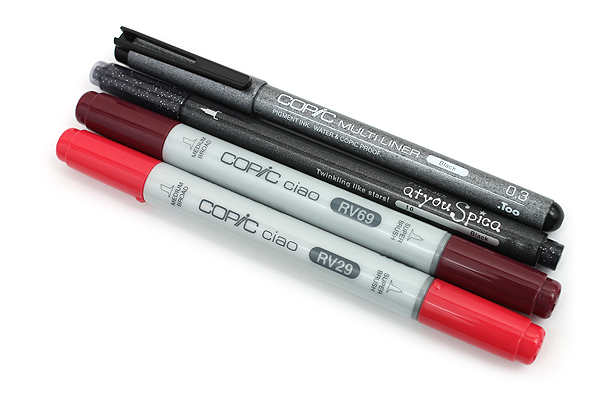 Copic Doodle Pack - 4 Pen Set - Red - COPIC DPRED
