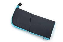 Kokuyo Neo Critz Transformer Pencil Case - Double-Zipper - Dark Blue / Light Blue - KOKUYO F-VBF130-1